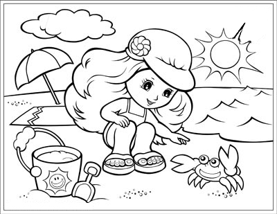 400x309 Summer Season Coloring Pages