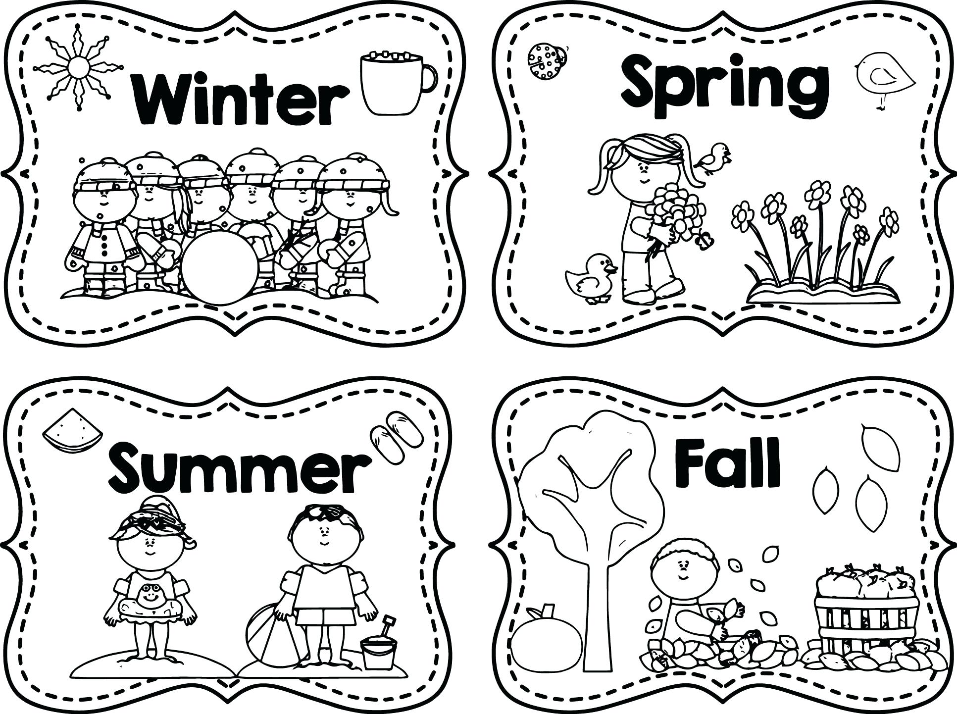 1933x1442 Summer Season Coloring Sheets Seasons Colouring Pages Autumn Page