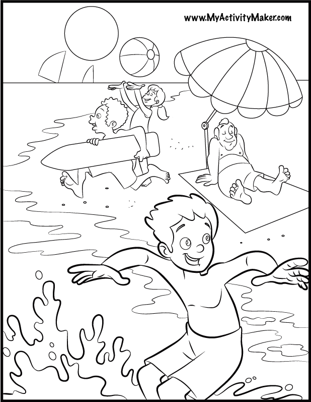 618x797 Coloring Pages Of Summer Season Summer Coloring Sheets