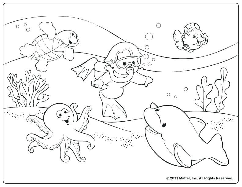 792x612 Summer Season Coloring Pages
