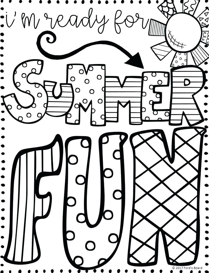 736x960 Coloring Pages For Summer Glamorous Free Summer Coloring Pages