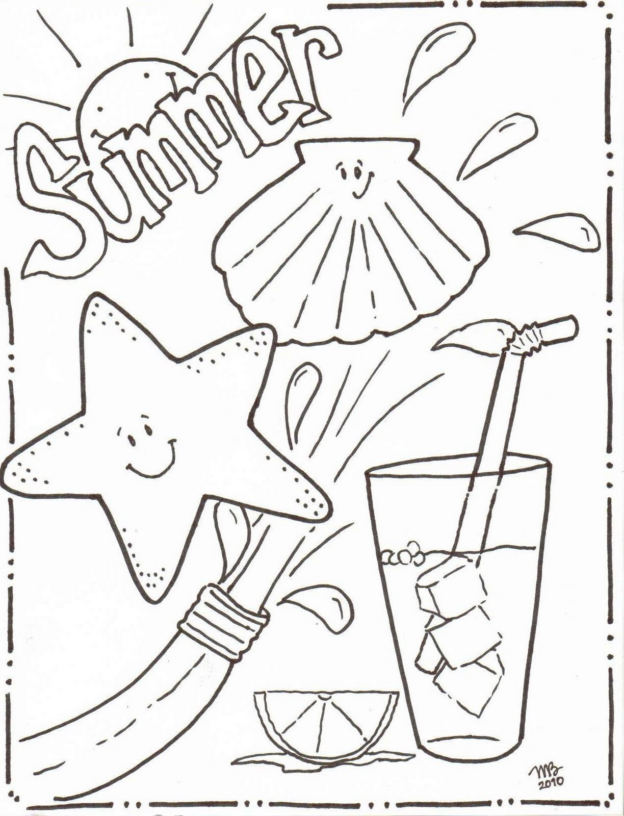 1224x1600 Emerging Coloring Pages Of Summer Season Activity Village Free