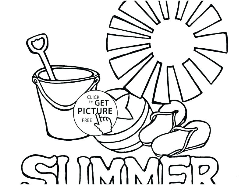 827x609 Free Printable Summer Coloring Sheets Summer Coloring Pages