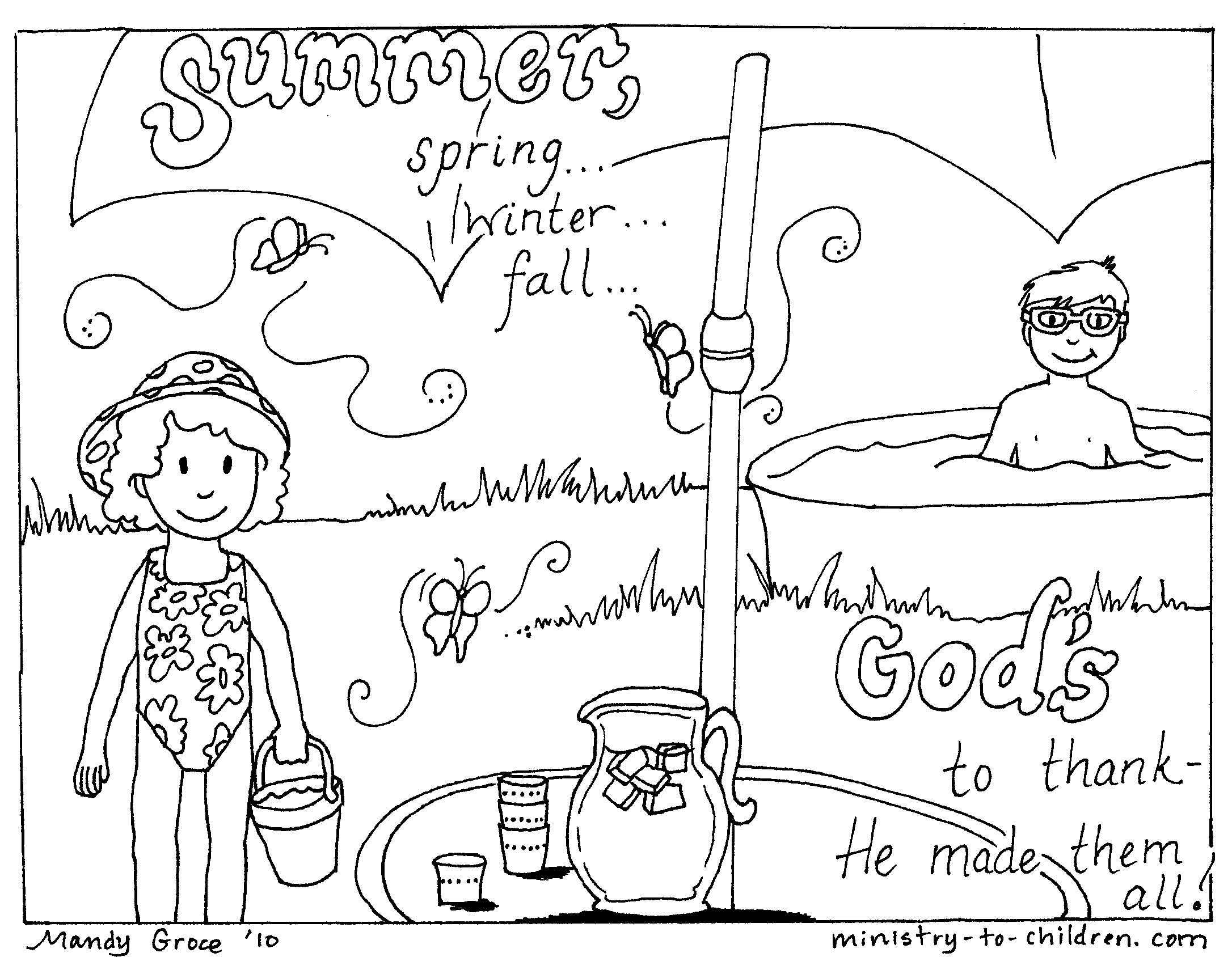 2172x1688 Free Summer Coloring Pages