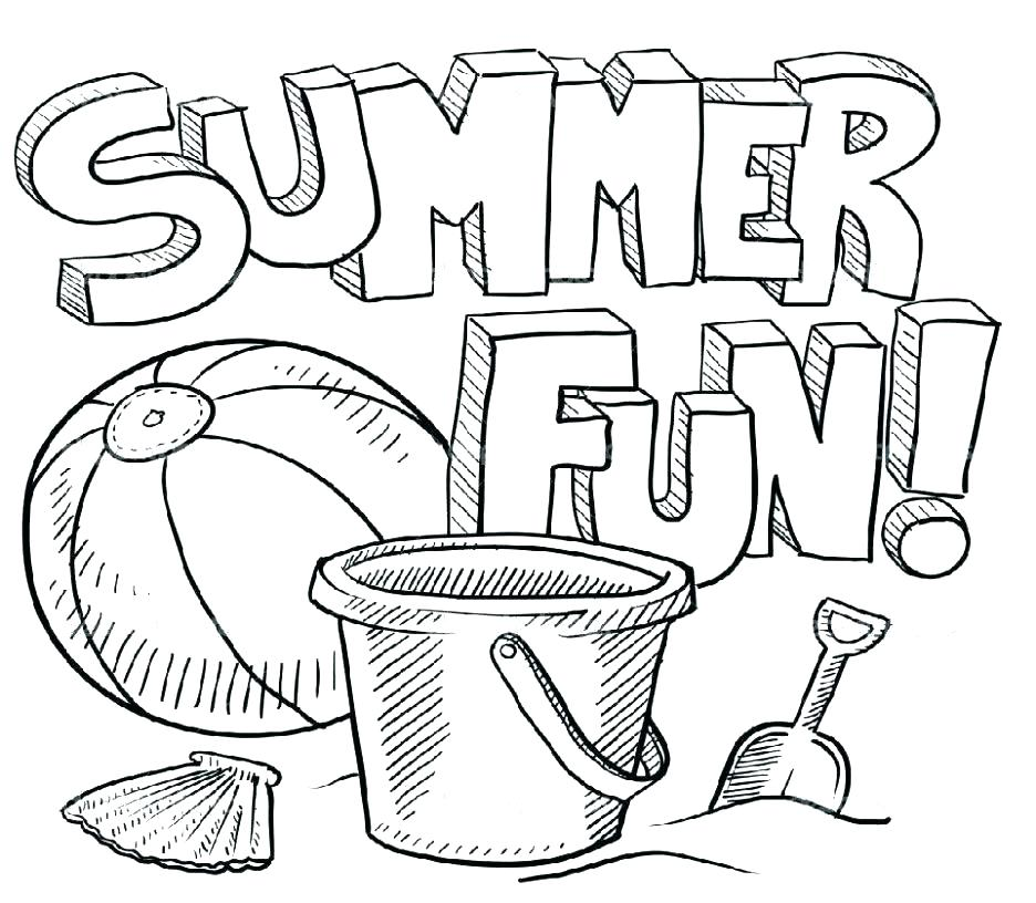 936x816 Summer Coloring Pages Printable Beach Full Size Of Pag