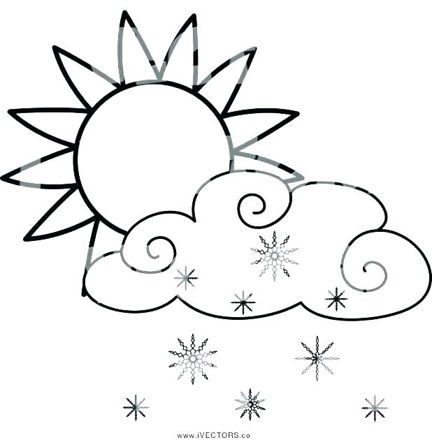 618x630 Coloring Pages Of Clouds Different Coloring Pages Clouds Page