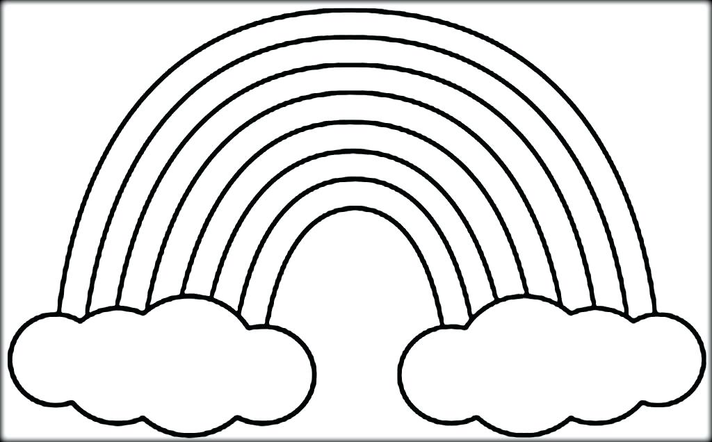 1024x636 Coloring Pages Of Rainbows Coloring Pages Of Rainbows Rainbow