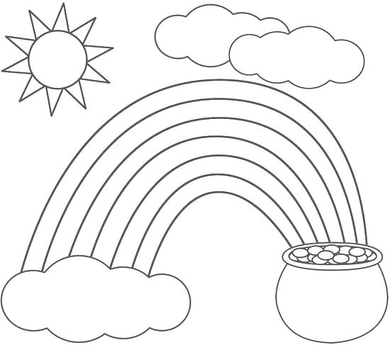 550x487 Gold Coloring Pages Pot Gold Coloring Page Rainbow And Pot