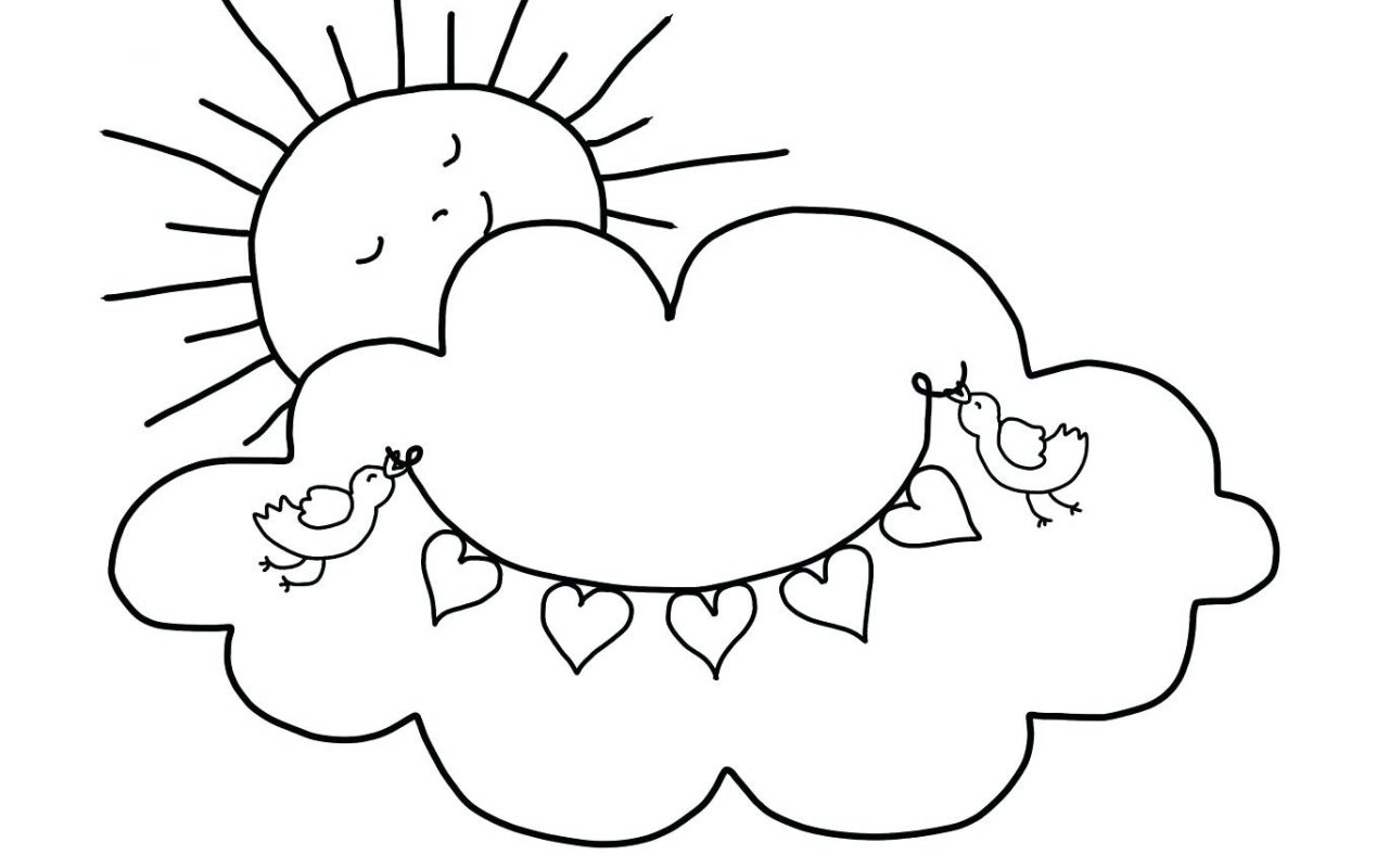 photo regarding Printable Clouds named Sunshine And Clouds Coloring Webpages at  Cost-free for