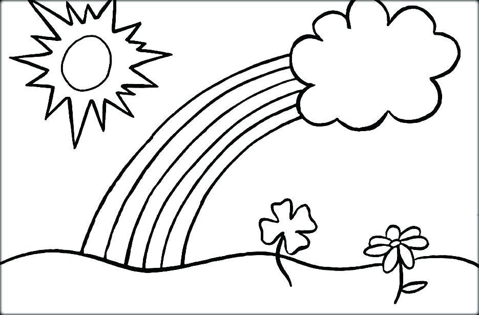 Sun And Clouds Coloring Pages at GetDrawings.com | Free for personal ...