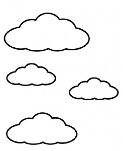 245x300 Printable Cloud Coloring Pages Coloring Me