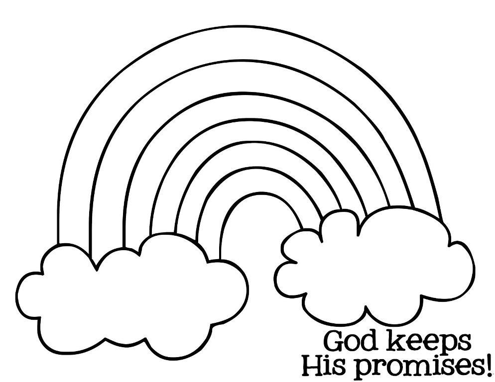 994x768 Rainbow Coloring Pages Rainbow Coloring Page With Color Words