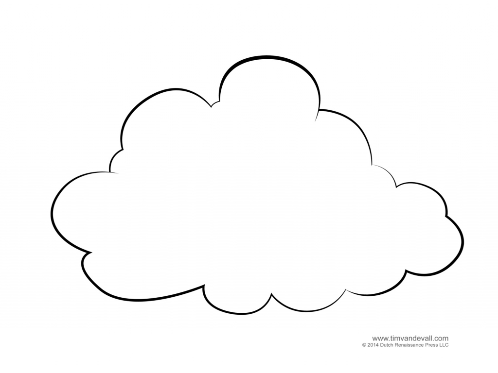 1024x768 Rainbow With Clouds Coloring Page Sun Cloud Pages