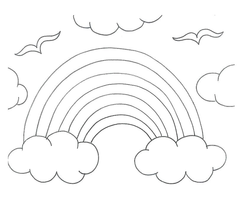 839x679 Rainbows Coloring Pages Free Online Sun Colouring Page Hearts