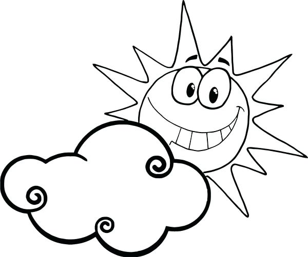 600x502 Sun Coloring Page Cloud Nature Printable Coloring Pages Free