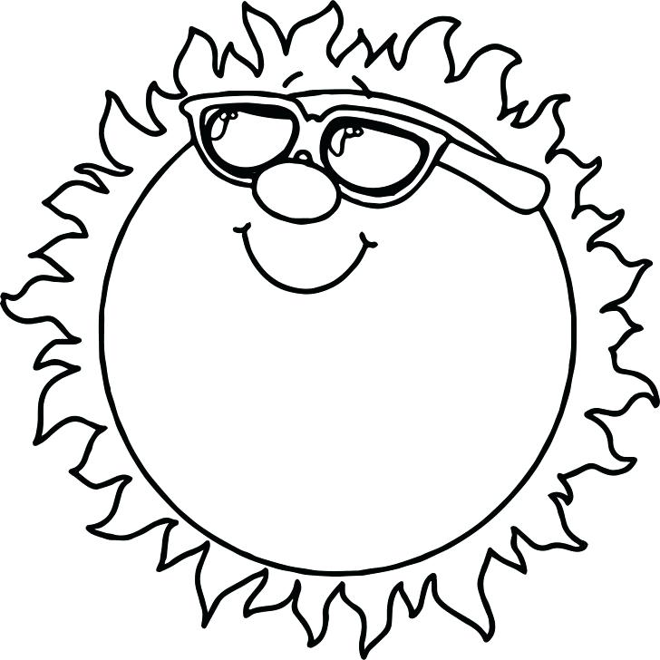728x728 Sun Coloring Pages Printable Rainbow With Clouds And Sun Coloring