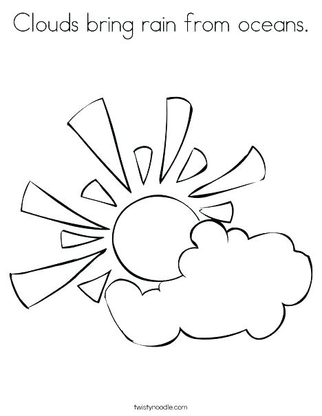 468x605 Cloud Coloring Pages Coloring Page Sun Cloud Coloring Page Sun