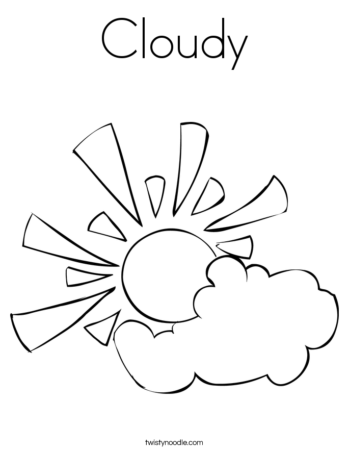 685x886 Cloudy Coloring Page