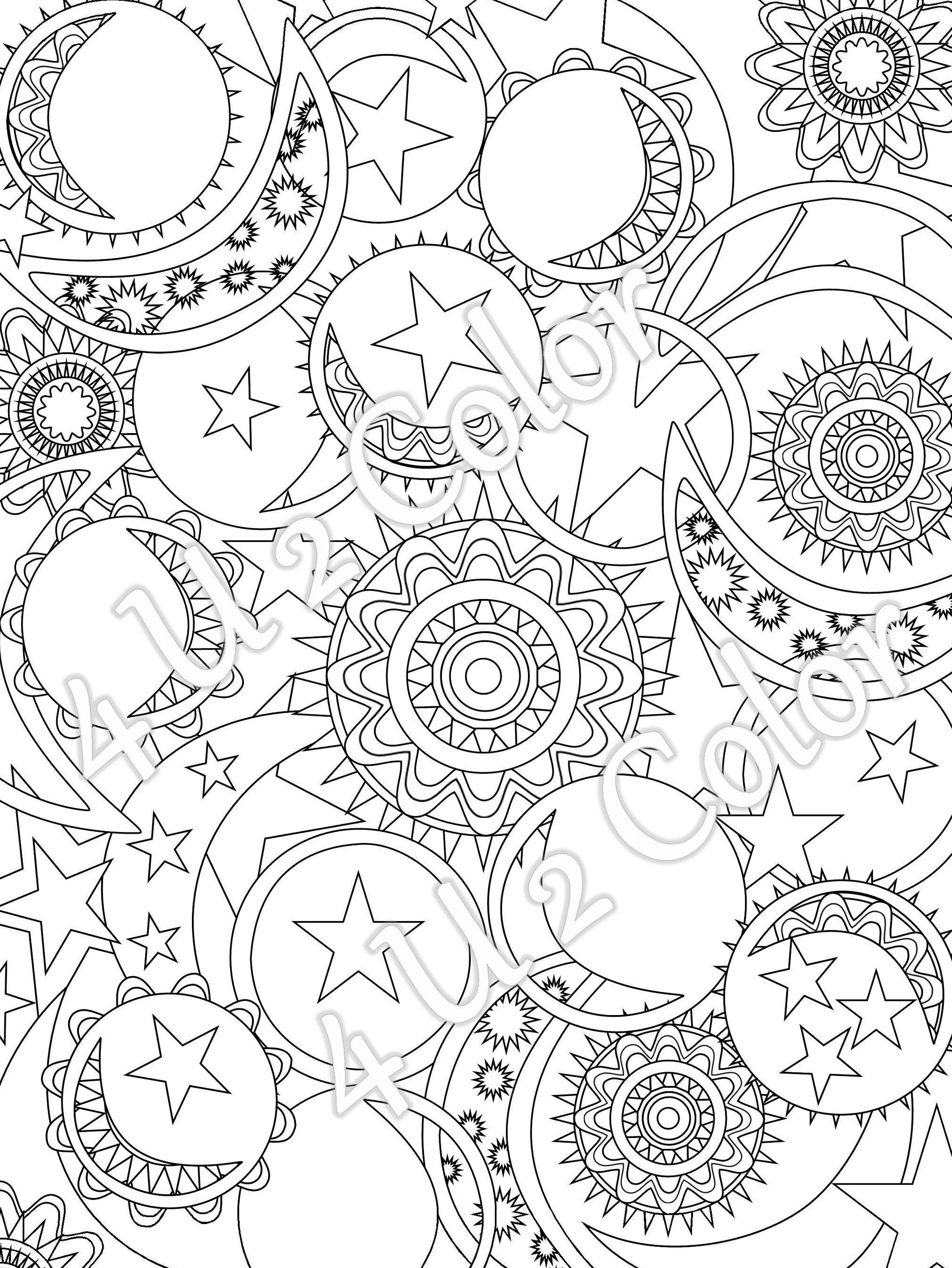 Sun And Moon Coloring Pages For Adults at GetDrawings ...