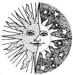 236x240 Sun And Moon Coloring Page Adult Coloring Pages