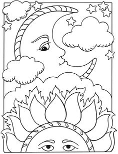 236x307 Welcome To Dover Publications Sun, Moon And Stars Designs To Color