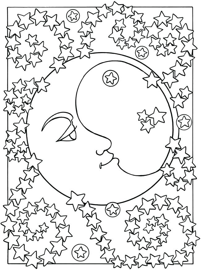 650x871 Beautiful Sun And Moon Coloring Pages And Adult Coloring Pages