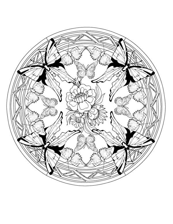 Sun And Moon Mandala Coloring Pages