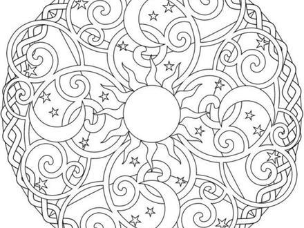 440x330 Sun Mandala Coloring Pages, Sun Moon Mandala Tumblr