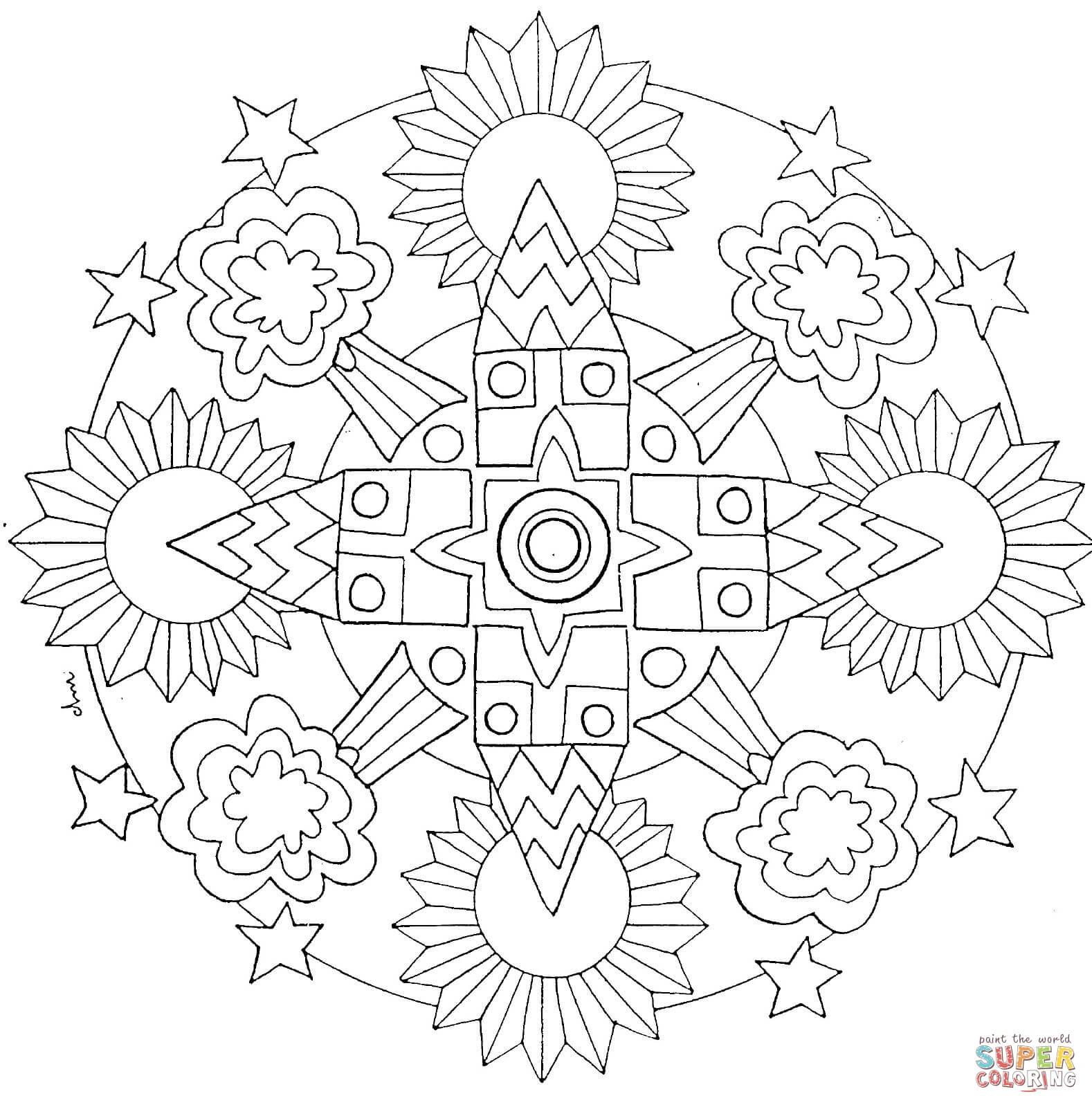 1578x1600 Sun Mandala Coloring Pages Star