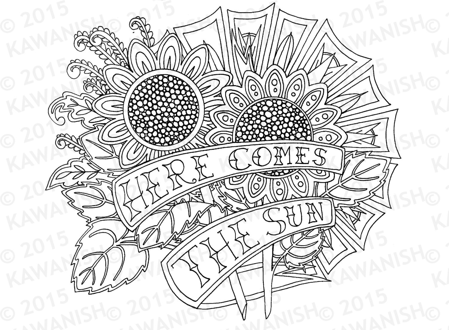 1500x1103 Sunflower Mandala Coloring Pages Fresh Here Es The Sun Sunflowers