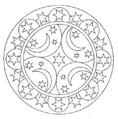236x238 Celestial Coloring Page