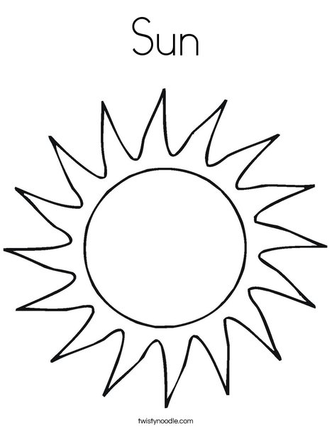 468x605 Sun Coloring Page