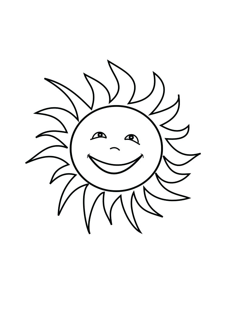745x1053 Sun Coloring Pages Sun Coloring Pages For Kids Big Sunflower