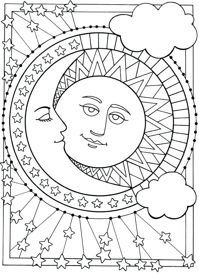 650x893 Moon Coloring Pages Free