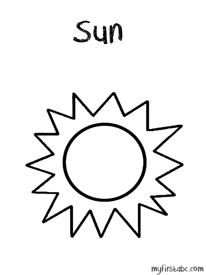 718x958 Simple Sun Coloring Pages