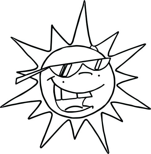 490x500 Sun And Moon Coloring Pictures Coloring Pages Sun Coloring Page