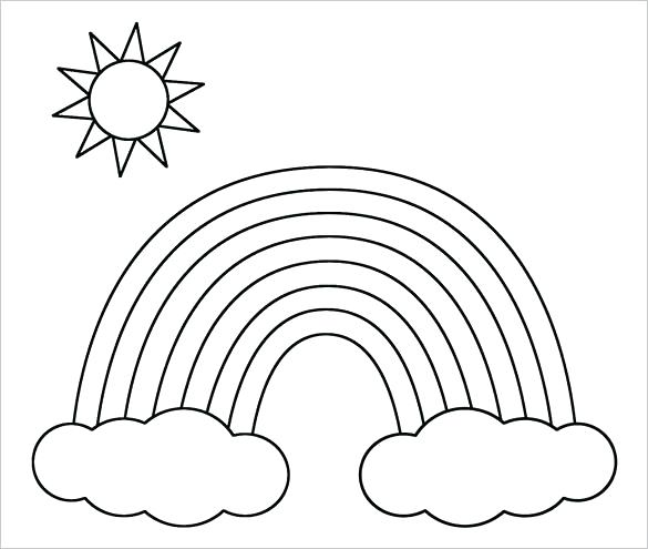 585x495 Sun Coloring Page Coloring Pages Plus Printable Rainbow