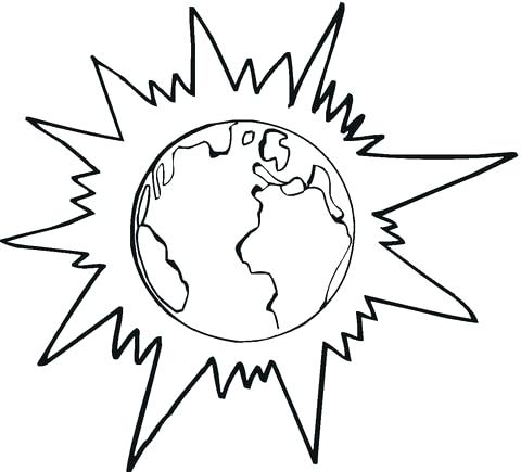 480x435 Sun Coloring Pages Click To See Printable Version Of Planet Earth