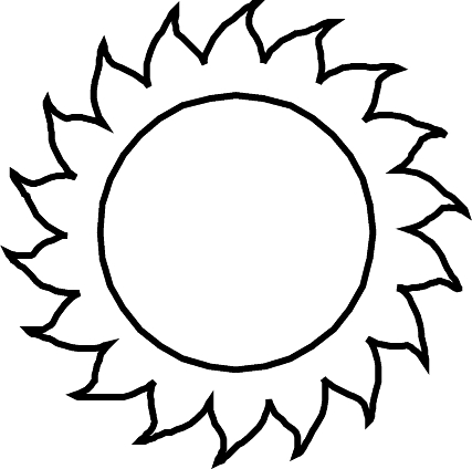 427x424 Sun Coloring Pages Extraordinary Sun Coloring Pages Printable