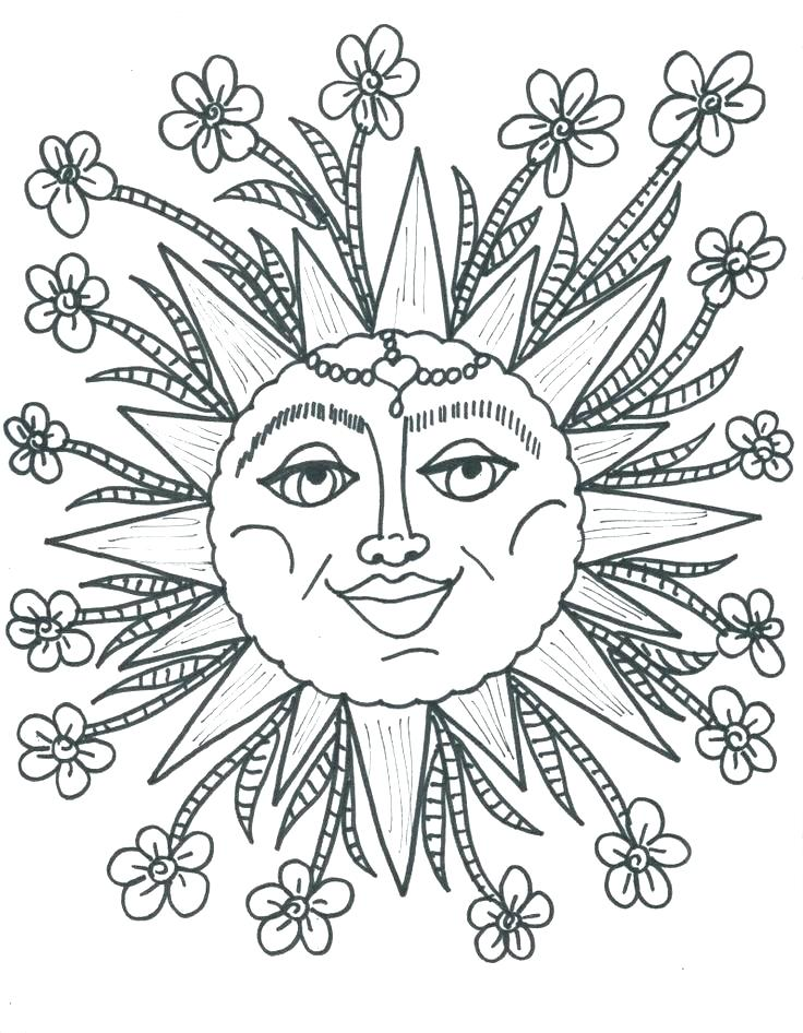 736x946 Sun Coloring Pages Hippie Coloring Pages Hippie Sun Coloring Pages
