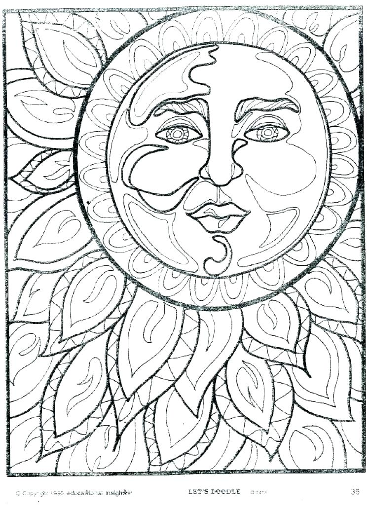748x1024 Coloring Pages Of The Sun