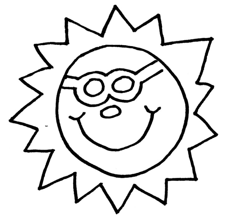 754x700 Free Printable Sun Coloring Pages