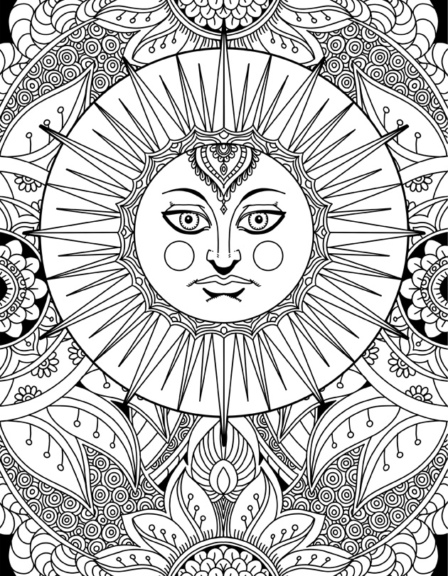 630x810 Printable Coloring Pages For Adults Karyn Lewis Illustration