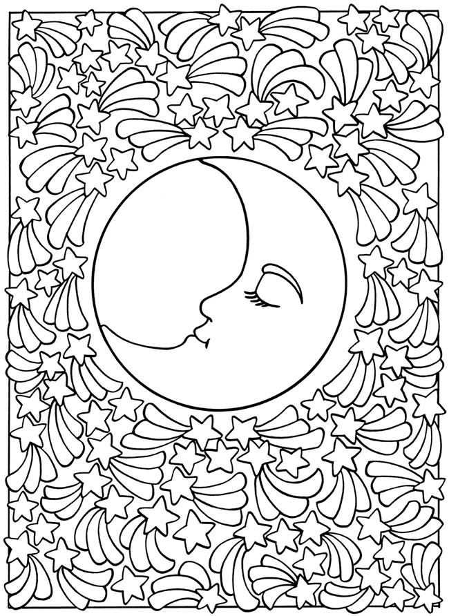 650x892 Sun And Moon Coloring Pages