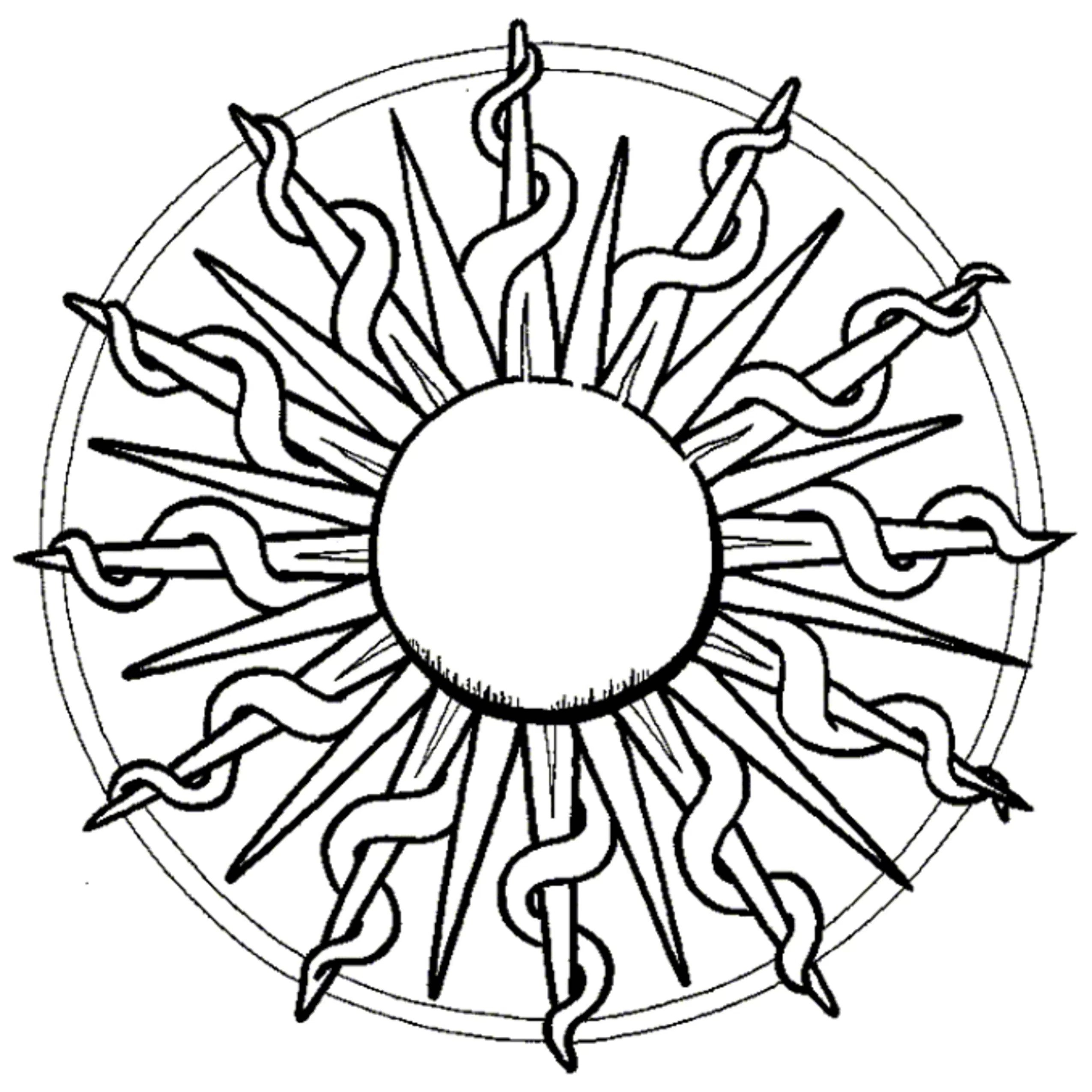 2550x2550 Sun Coloring Pages For Adults Acpra