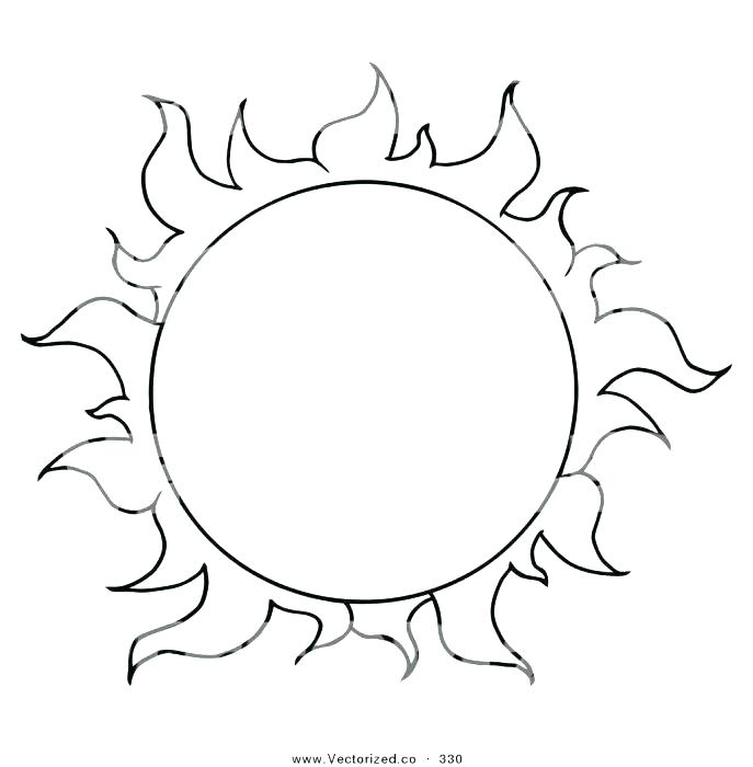687x700 Sun Coloring Pages Sun And Moon Coloring Pages Van Gogh Sunflowers