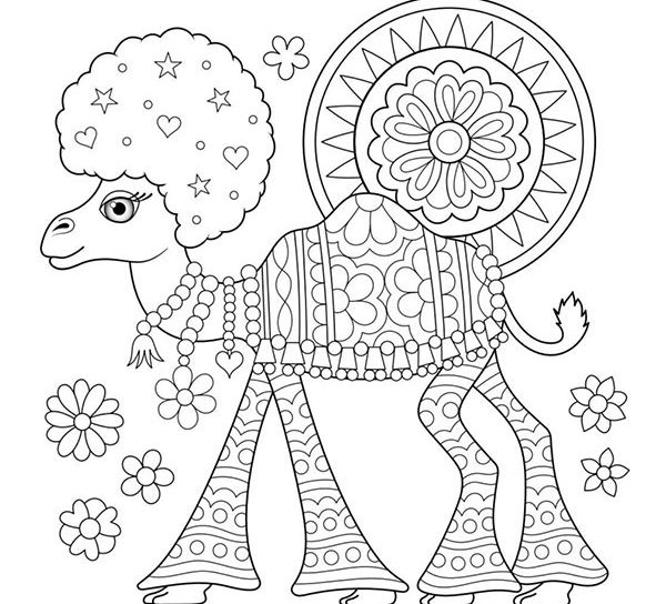 600x544 Sunset Of Hippie Coloring Pages Free Download Arts Printable