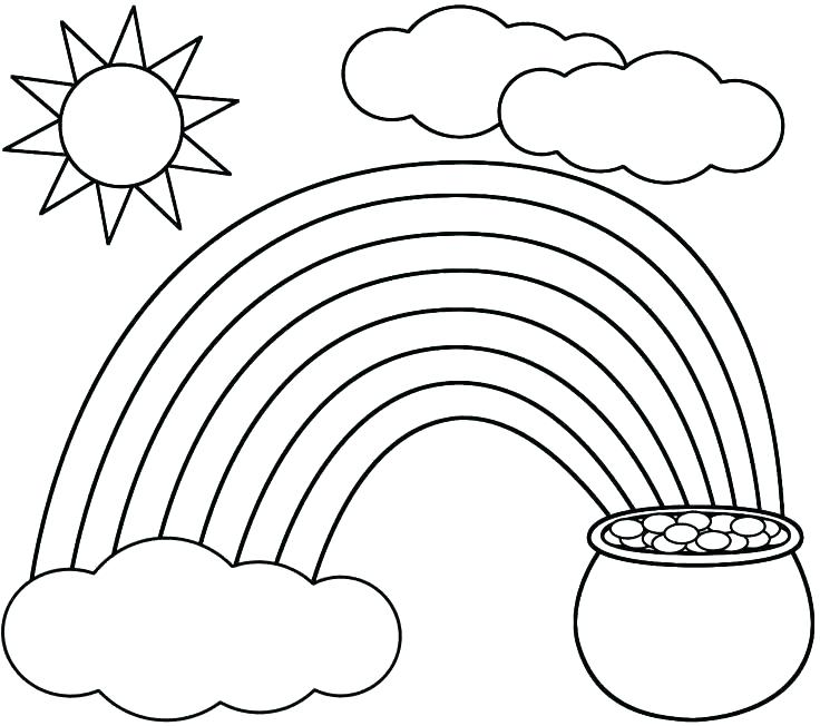 736x652 Rainbow Coloring Page Printable Clouds Coloring Page Rainbow