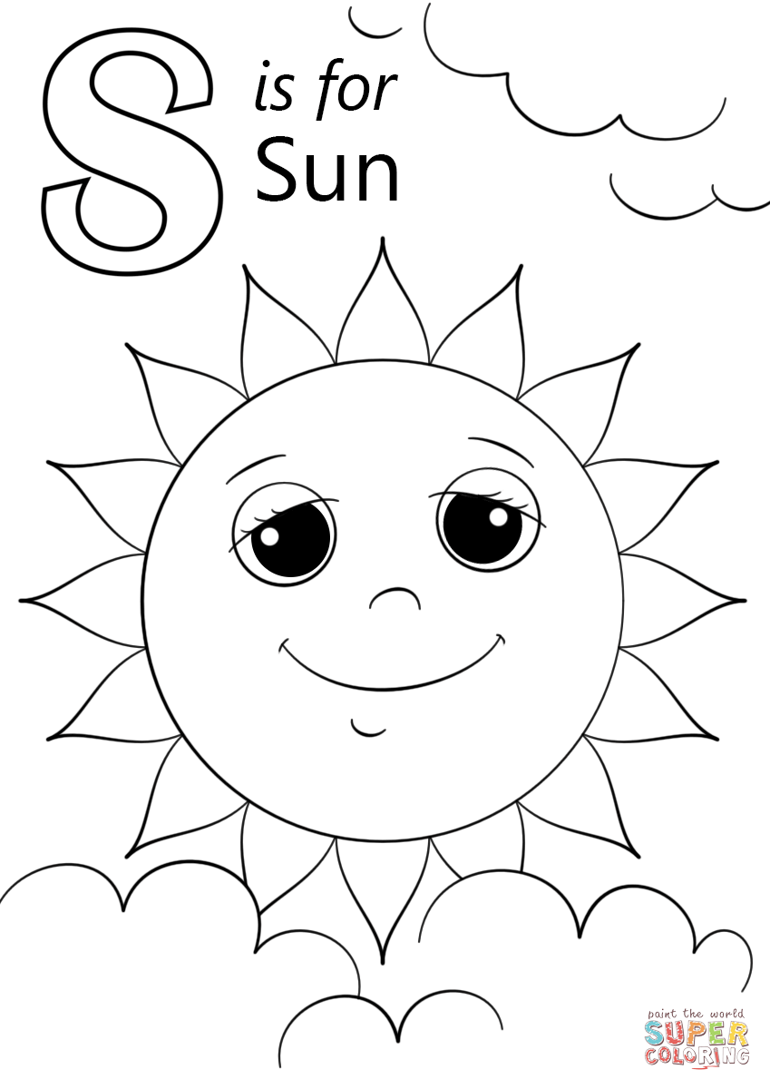 849x1200 Sun Coloring Pages Sketch Template