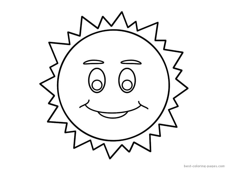 900x675 Sun Coloring Pages To Download And Print For Free